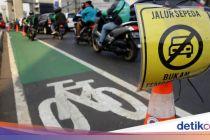 Penilangan Pengendara yang Masuk Jalur Sepeda di DKI Dimulai Besok
