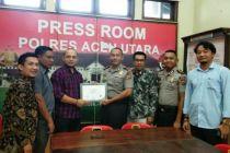 Sukses Amankan Pemilu 2019, Polres Aceh Utara Terima Penghargaan dari KPU