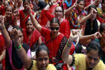 Jutaan Buruh di India Mogok Massal