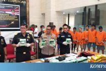 Bareskrim Tangkap 11 Kurir Narkoba Jaringan Malaysia-Indonesia