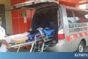 Truk Seruduk 1 Motor, 3 Warung dan 1 Tambal Ban, Seorang Loper Koran Terluka
