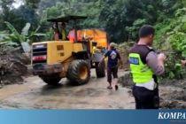 Longsor, Akses Jalan Lintas Sumatera Putus Selama 4 Jam di Kabupaten Solok
