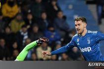 SPAL Vs Juventus, Ramsey Nyaman dengan Skema Tiga Gelandang