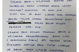 Beredar Surat dari Tersangka Kasus Jiwasraya Benny Tjokro