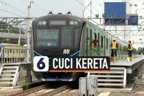 VIDEO: Cegah Penyebaran Corona, Operator MRT Jakarta Cuci Kereta