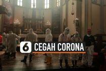 VIDEO: Cegah Penyebaran Corona, Gereja Katedral Disemprot Disinfektan