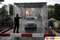 Antisipasi Corona, Perumahan di Bekasi Pasang Bilik Disinfektan