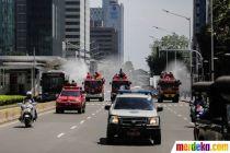 Cegah Penyebaran Corona di Jakarta, Penyemprotan Disinfektan Terus Dilakukan