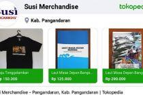 Susi Pudjiastuti Jualan Kaos 'Tenggelamkan' di Tokopedia