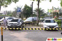 Cegah Penyebaran Corona, Rest Area Ini Terapkan Parkir Mobil Berjarak
