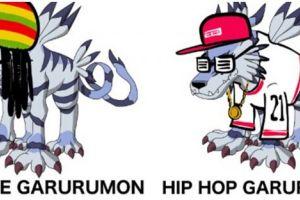 8 Editan karakter Digimon menyesuaikan genre musik ini kocak