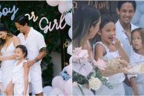 10 Momen baby shower anak ke-3 Jennifer Bachdim, bertema serba putih